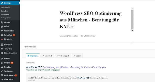 WordPress SEO Optimierung