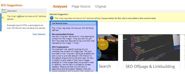 SEO Analyzer Tool