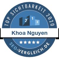 SEO Vergleich Siegel für Khoa Nguyen