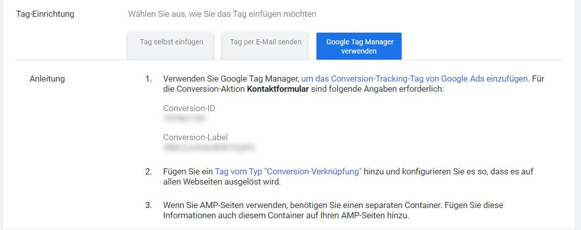 Conversion in Google Ads