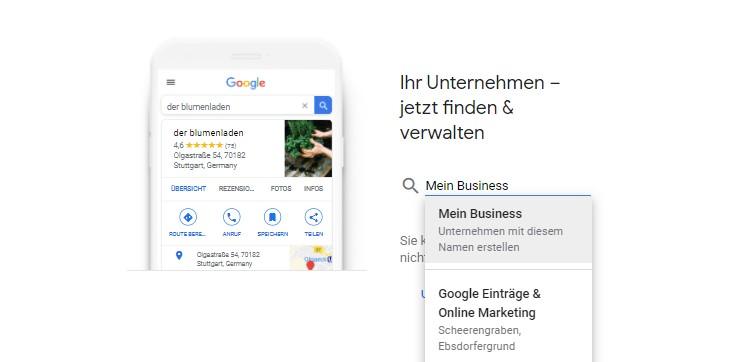 Google my Business Optimierung
