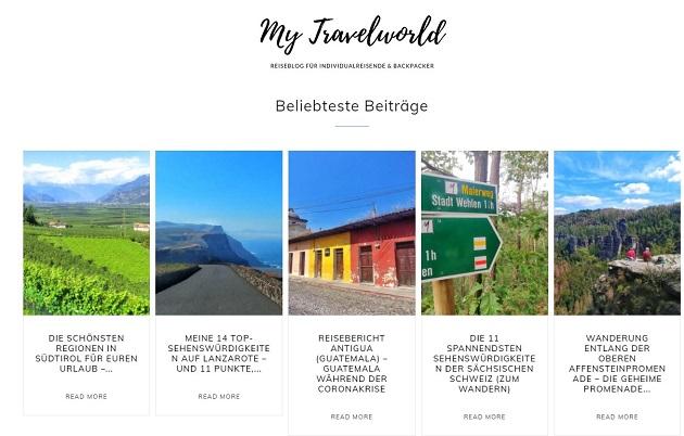 My Travelworld neue Seite