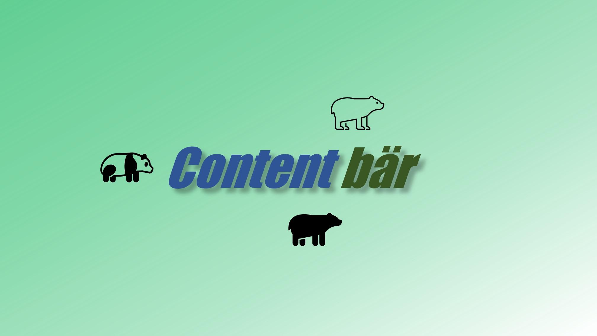 Contenbär Contest